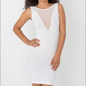 Worn once white American apparel bodycon dress